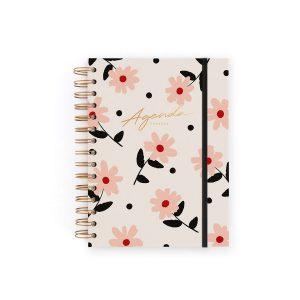 Agenda Sin Fechas. Semana + Notas. Floral Charuca
